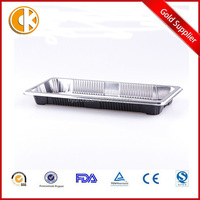 Silvery Color Long Food Tray for Sushi Fish with cover