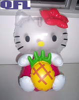 Inflatable Hello Kitty, Plastic PVC Inflatable Hello Kitty Toy