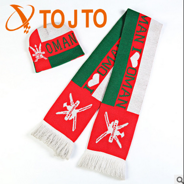 The European and American teams acrylic jacquard knitted fashion hat scarf suit