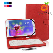 Fashionable leather case with keyboard for 9.7 inch tablet pc for iPad