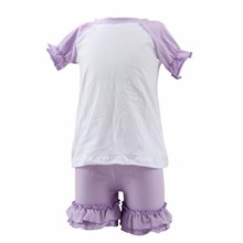 Fashion summer cotton ruffle sports sxey school girl cheerleading outfit