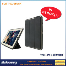 Waterproof leather case cover for ipad mini 2 for ipad 234