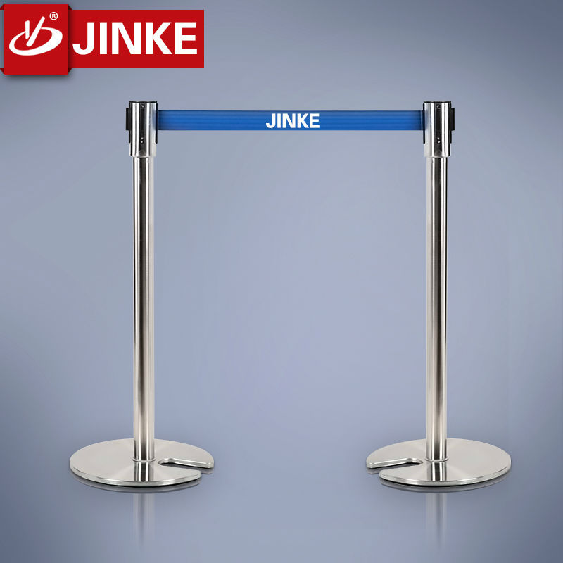 Stanchion Base Marine Hardware,Metal Queue Barrier For Hotel /Cafe/Bank/Airport,Rope Barrier