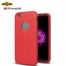 Litchi Texture Silicone TPU Cover Case for iPhone 6 Laudtec