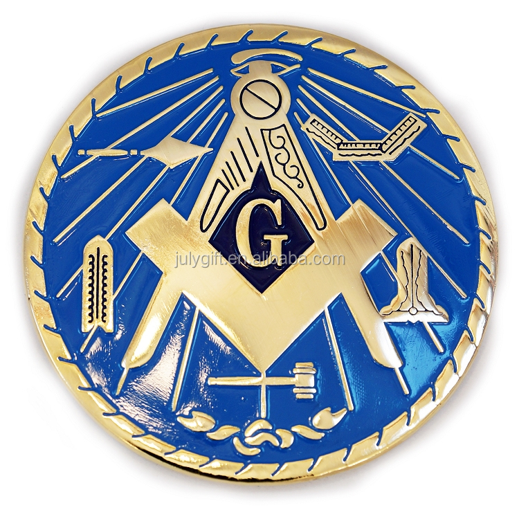 Masonic car emblem with 3M adhesive