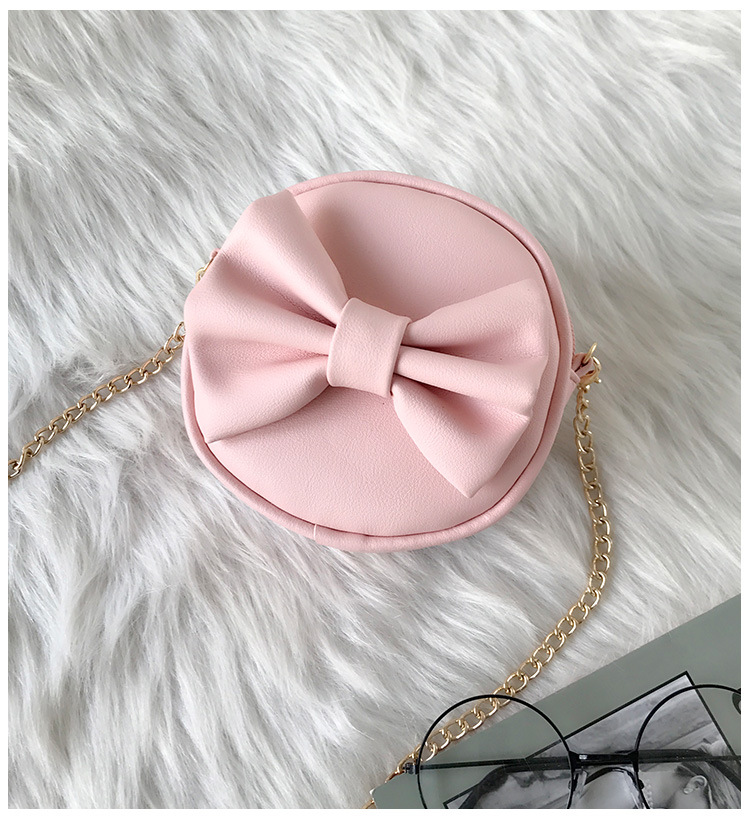 New Cute 2018 Autumn Winter Mini Bows Bag Kids Girl Shoulder Chain Bags