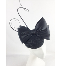 Black fascinator on comb for Kentukcy Derby Church Tea Party Event available in any colors