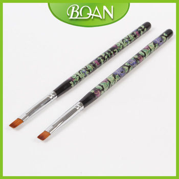 Boqian Factory Direct Wooden Handle Gel Nail Art Paint Brushes