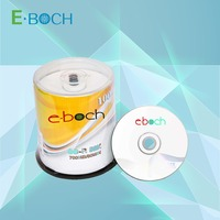 printing cdr/blank cd 52x 700MB disc with shrink wrap cake box packing