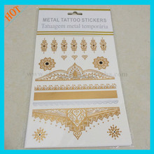 forehead jewelry gold tattos sticker, temporary tattoos