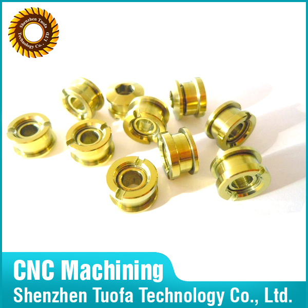 Custom precision OEM CNC machining service cnc crank pulley alloy