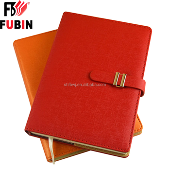 student planner hardcover leather notebook on the rings