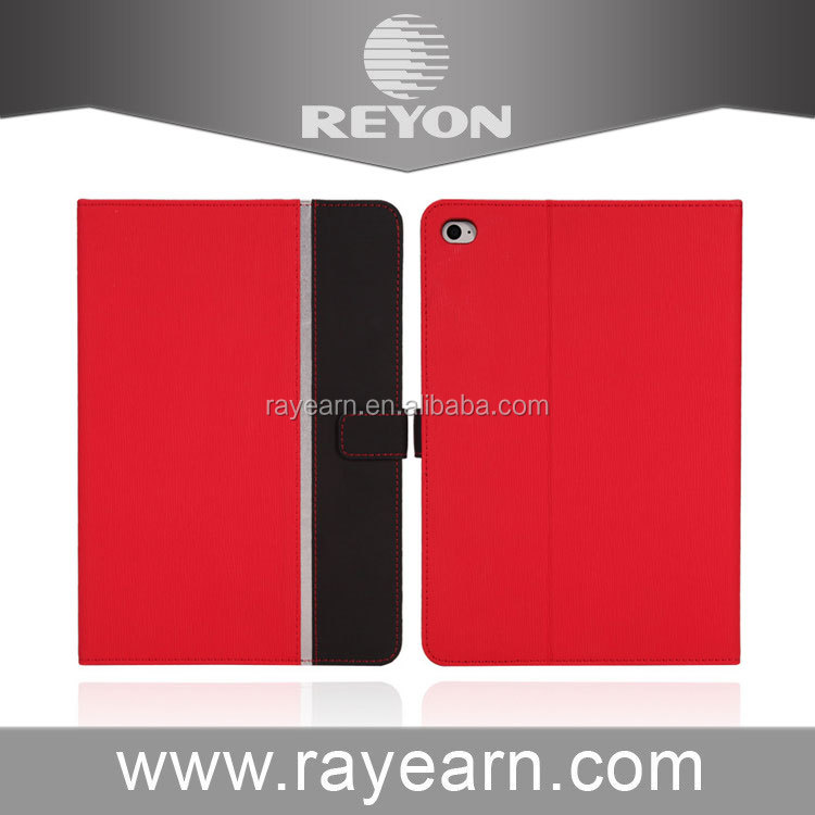 REYON red PU Leather Case With Card Slots For Apple iPad mini 4 Case Folio Stand Protector Skin Case For Apple iPad mini4