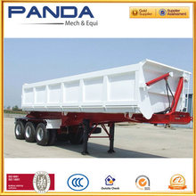 High Payload 3 axle 60 Ton dump semi trailer tipper truck for grains transportation
