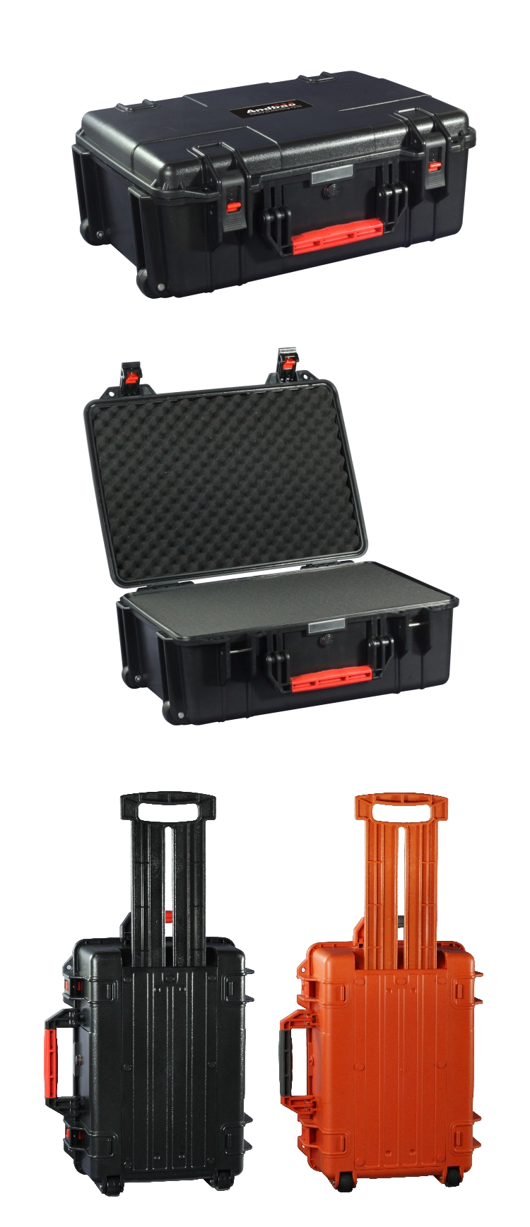 High impact ABS plastic tools luggage trolley boxes