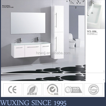 "60"" White Double Sink vanity units for small bathrooms"
