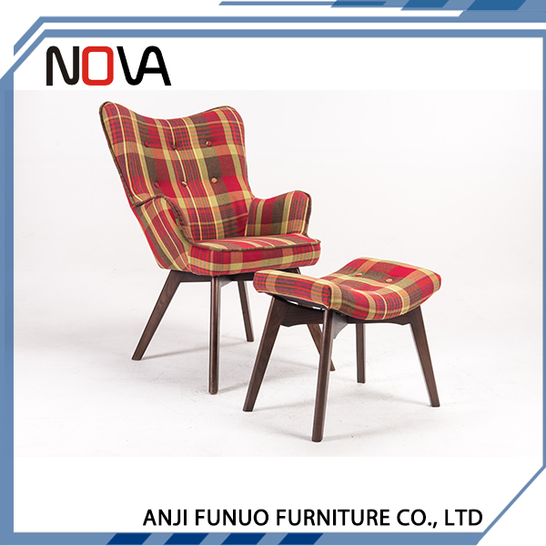 Most popular red fabric armchairs leisure chair
