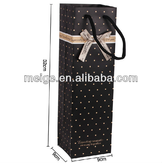 Promotional wine bag/Lates wine bag/paper wine bag cheap