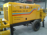 hot sale trailer diesel motor concrete pump has 80m3/h with best power,pumping,electric control, lubrication,hydraulic system