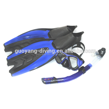 Freediving set - low volume freediving mask & silicone snorkel & full foot pocket freediving fins