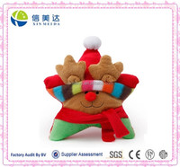 Fashion Christmas Plush Reindeer Star Inflatable Squeaker Dog Toy