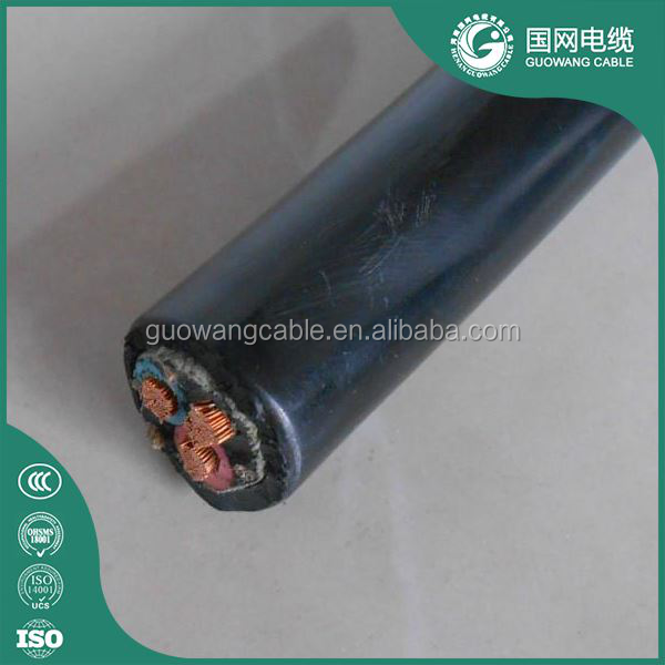 High Quality Three Cores Tough Rubber Sheathed Flexible Cable With Specification Of 3x25mm2