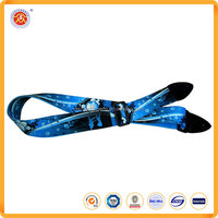 Wholesale Musical Instrument funny fashion custom brighting colorful blue rock guitar strap