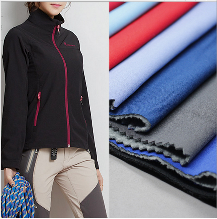 waterproof tpu/tpe laminated bonded fleece softshell polyester fabric