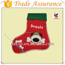 2016 Christmas Santa Claus Dog Decoration Xmas Gift Bag Candy Pouch Stocking