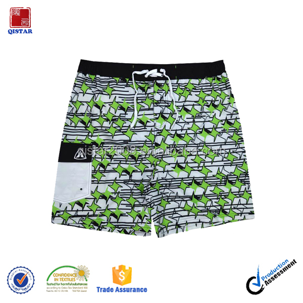 Hot Sell Sublimation Printed Swim Shorts Custom Wholesale Mens Beach Shorts with Drawstring
