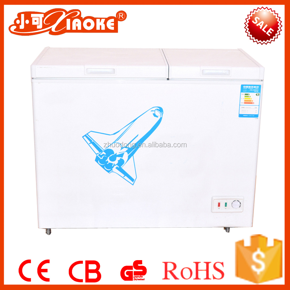 250L portable stainless steel frozen deep chest freezer for sea fish