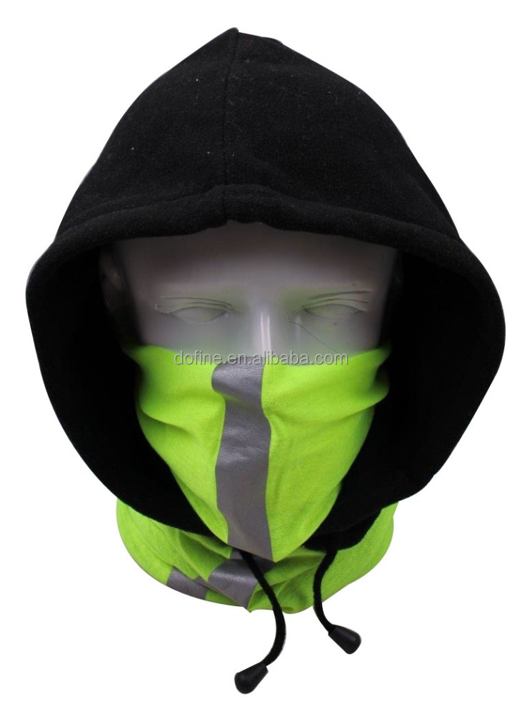 Hi-vis polar fleece face mask balaclava neck hood