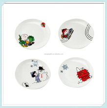 Holiday Scenes Plate Ceramic Christmas Tableware