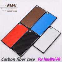 Carbon Fiber Skin phone cover for huawei P8, for P8 Case bulk in stock