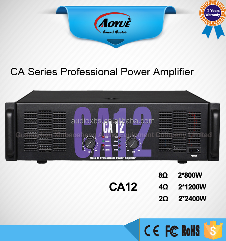 Universal 800w soft audio amplifier CA12 professional power amplifier ca20