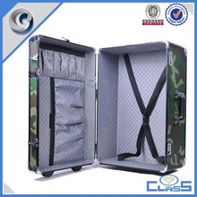 MLDGJ812 Camouflage lightweight pilot aluminum travel military luggage trolley case