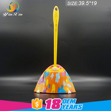Professional manufacturer Wholesale YX-526 cleaning tools plastic long handle toilet brush with base for bathroom