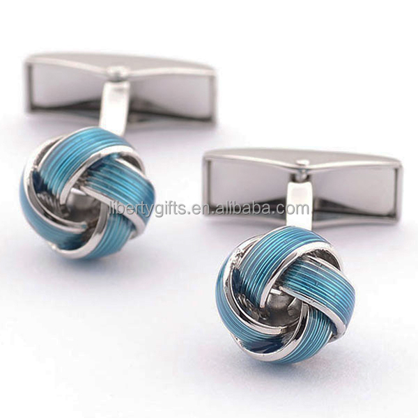 funny metal celtic knot cufflinks