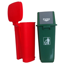 SS Super Bathroom and Kitchen Foot Pedal Plastic Dustbin
