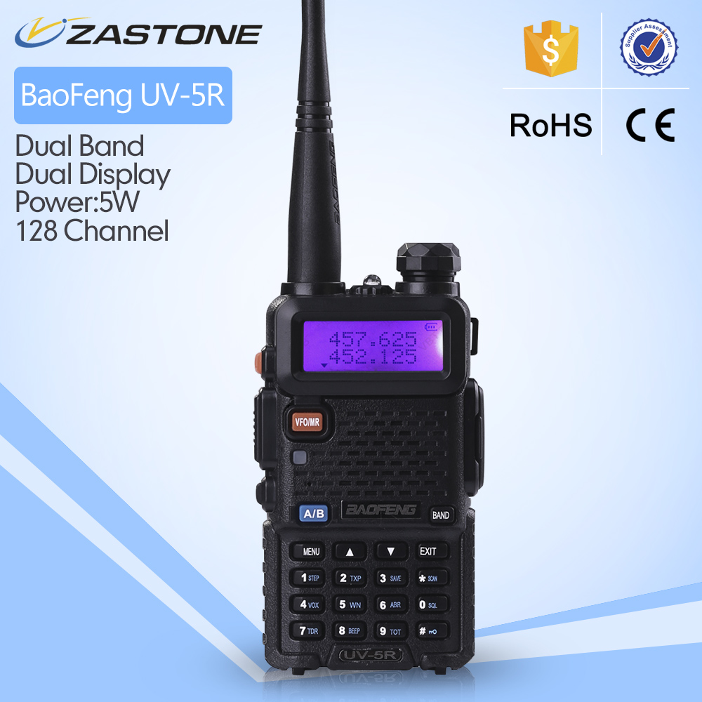 BAOFENG UV5R UHF/VHF dual band walkie talkie with free earpiece
