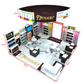 DeTIAN offer 6x6 aluminum truss trade show booth with fabric hanging sign