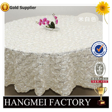 Wholesale Polyester Rose Tablecloth For Wedding Event HM-ZB62