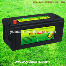 Newest 12V110AH Yuasan Calcium Lead Acid Car Battery 12V Sealed MF Auto Battery 130E41R(NX200-10MF)