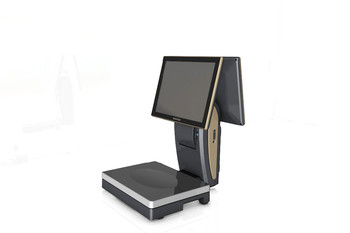 Electric Scale POS with fashion design for retail supermarket, dual screen