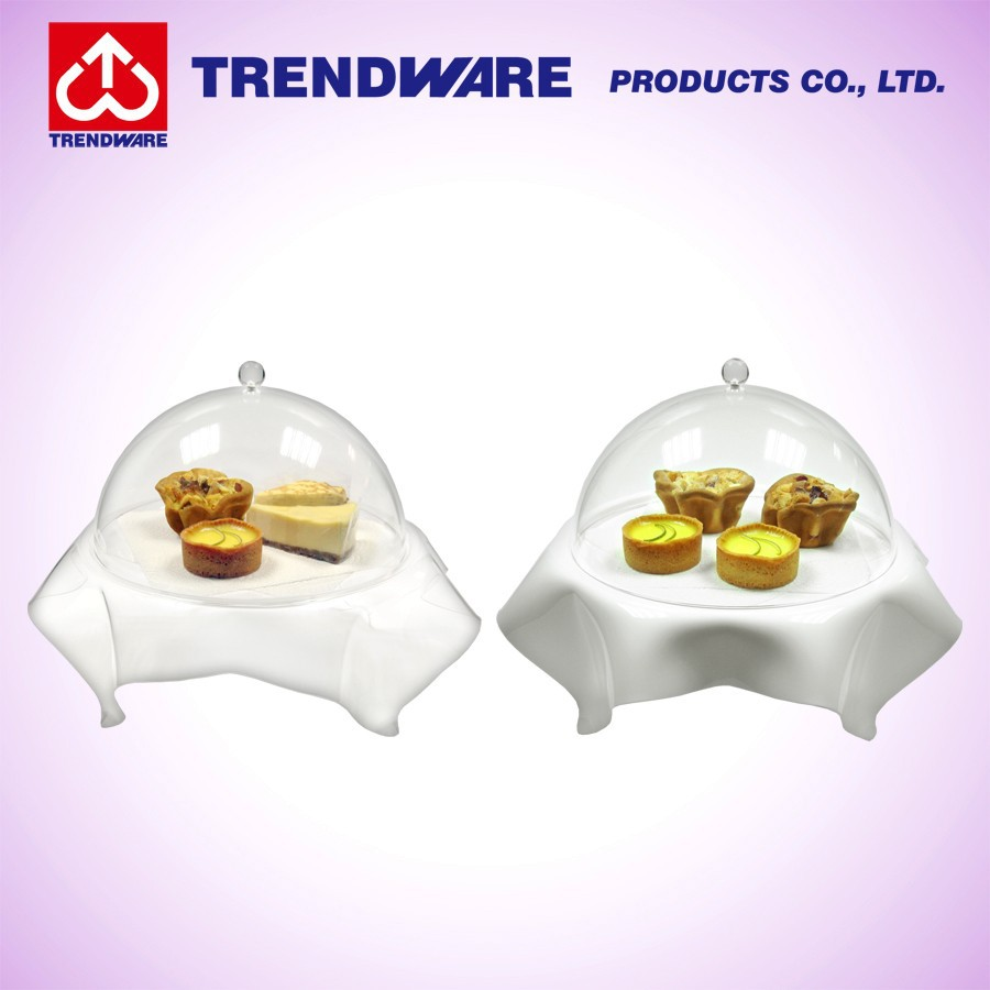 Round shape acrylic cupcake Display Tray stand