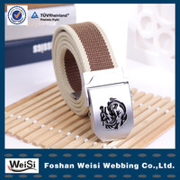 2014 new fashion plain canvas belts for men