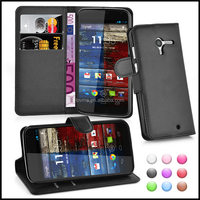 Wallet Leather Mobile Phone Case Cover for Motorola Moto X
