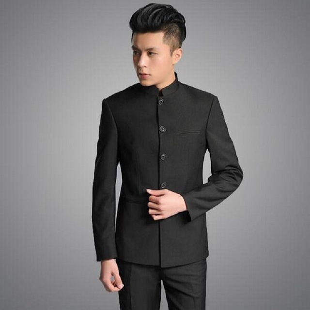 NW011 Stand collar chinese tunic suit men suit set latest coat pant designs dress suits for men wedding groom mens