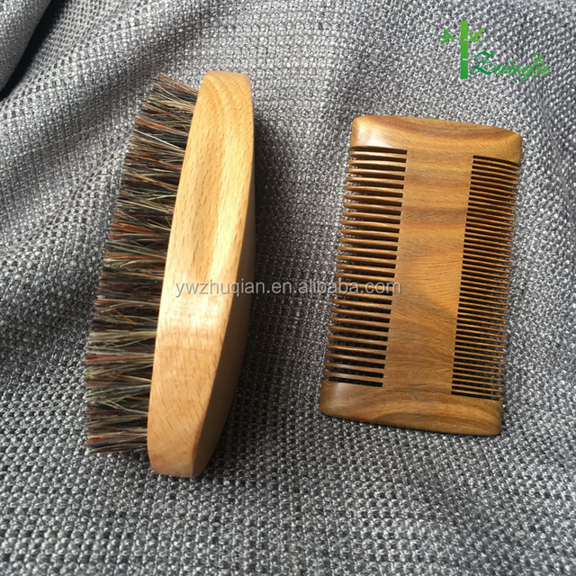 Amazon hot selling personalized wooden hair beard brush and comb