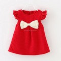 Children wear cute designer baby girls dress red kids clothes